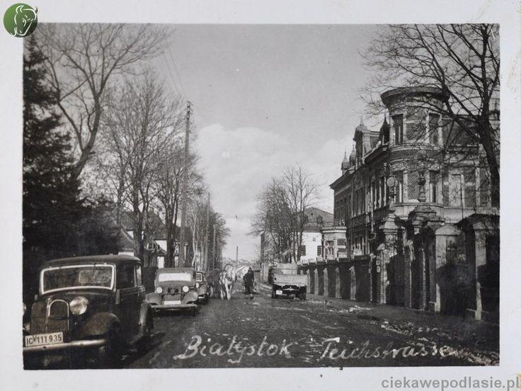 Ulica Świętojańska (Kant Strasse)  Niemiecki podpis informuje że jest to Teichstrasse czyli Stawowa, której nazwę używano w latach 1915-1919.