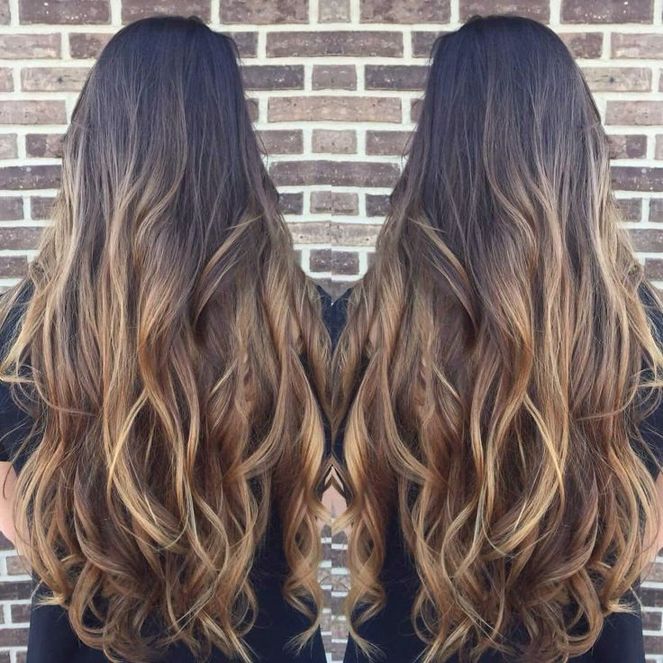 Baylage/Ombré dark brown to light brown | Hair | Pinterest ...