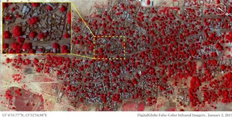 This Satellite image taken on Friday, Jan. 2, 2015 and released by Amnesty International of the village of Doron Baga in north-eastern Nigeria, shows before it was allegedly attacked by members of the Islamic extremist group Boko Haram. (AP Photo/ Micah Farfour, DigitalGlobe via Amnesty International) ▼15Jan2015AP International force mulled to fight Boko Haram in Nigeria http://bigstory.ap.org/article/8cc9df6949e74853ac411cf2bb01c840