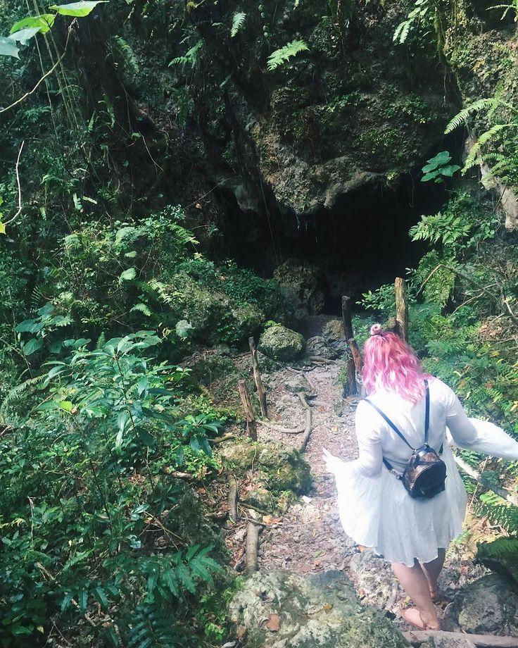 Exploring an underground cave