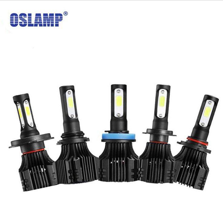 Check Discount Oslamp S5 H1 H3 H4 H7 H11 COB LED Headlight 8000lm 72w 6500K Car Front Bulb Dipped High Beam Fog Lamp All-in-one 9005 9006 9007 #Oslamp #Headlight #8000lm #6500K #Front #Bulb #Dipped #High #Beam #Lamp #All-in-one #9005 #9006 #9007