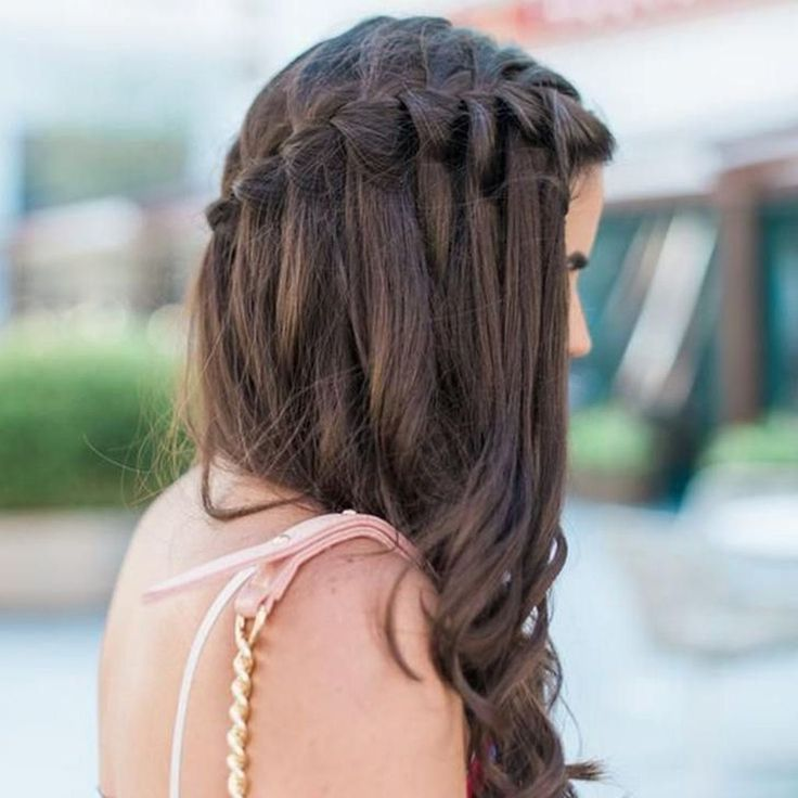49 Charming Waterfall Braid Hairstyle Ideas For Girls This Year