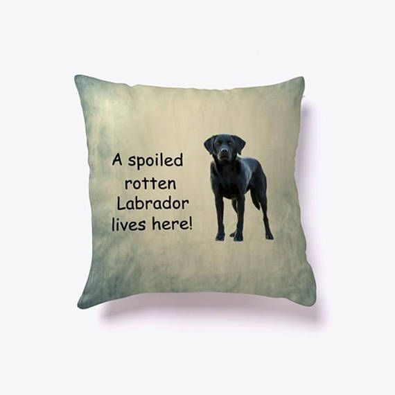 A Spoiled Rotten #Labrador #Dog Lives here #Pillow