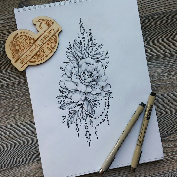 Flower tattoo desing #FlowerTattooDesigns