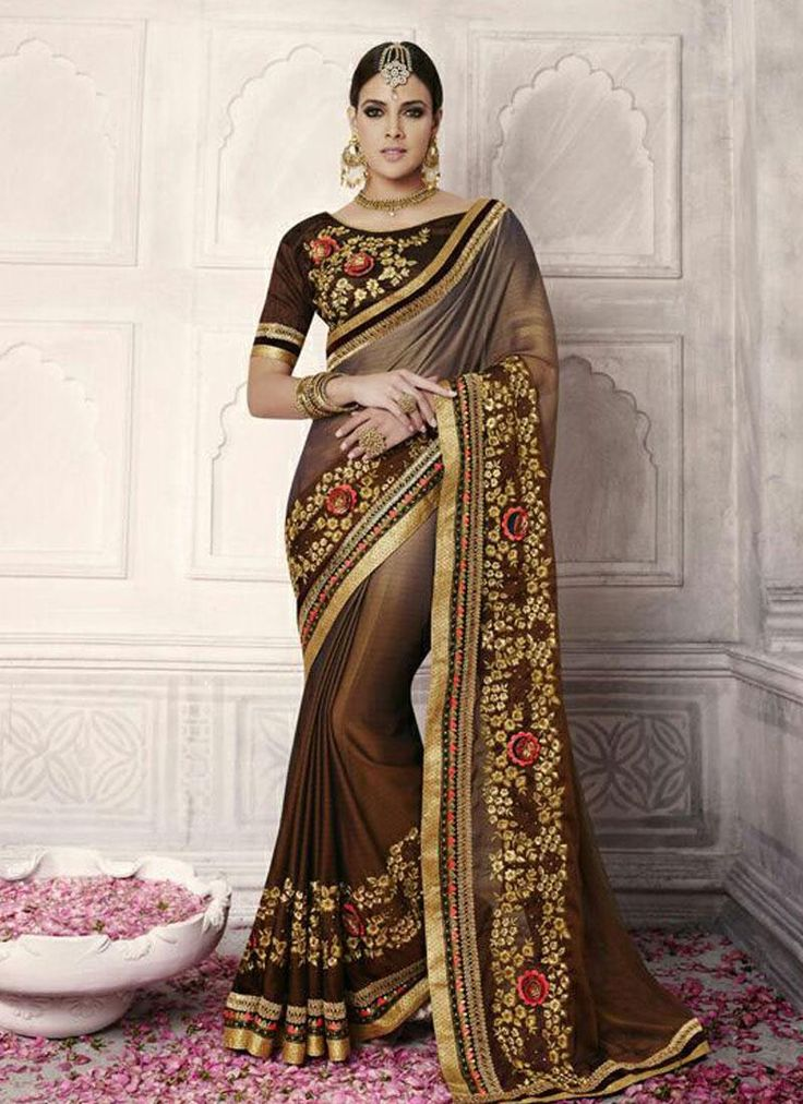 Latest #Designer #Saree Women Clothing Collection.  Contact us: +91 9824678889 Email id: sales@manjaree.in