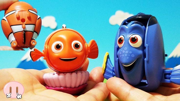 ドリー 映画 エッグスターのドリーとニモを紹介しちゃうよ!アンパンマン おかあさん アニメおもちゃ たまご 変身