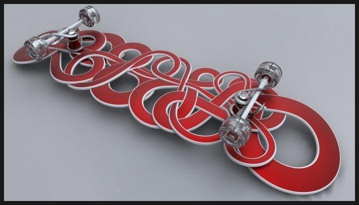 특이한 모양의 스케이트 보드 - IPSVM Skateboard : 네이버 블로그
