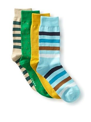 40% OFF Richer Poorer Men's Assorted Socks - 4 Pack (Multi)