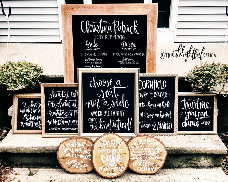 Wedding Decor Sign Suite | Choose a seat not a side | Yes you can dance | hastag it | program | cornhole  Wedding Signage | Chalkboard Sign | Inspo | Bride to Be | Custom Chalk Lettering | Seating Chart | Modern Calligraphy | Typography | Hand lettering | Custom Signage || This Delightful Design by Katie Clark
