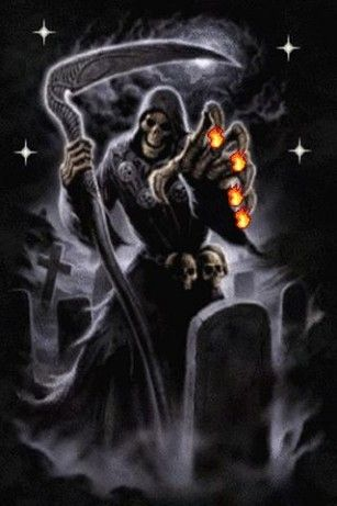 Animated Gifs Scary Grim Reaper Animation View Bigger