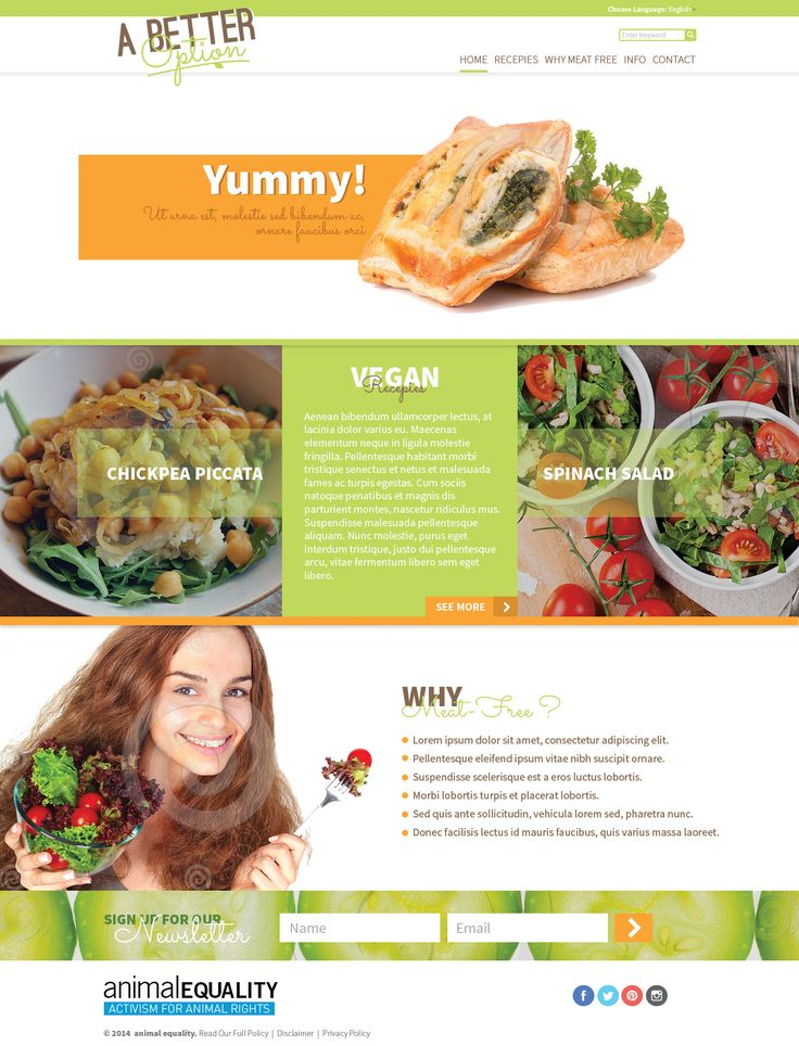 "Web Design proposition ""A better Option""  #webdesign #healthy #green"