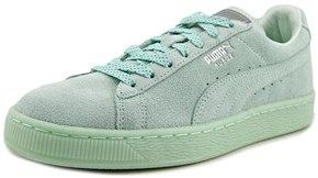 Puma Suede Classic Women Round Toe Suede Green Sneakers.