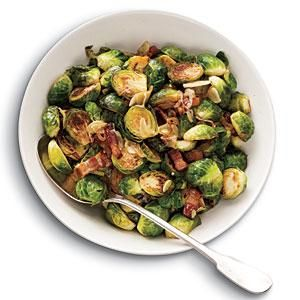 Brussels Sprouts with Bacon, Garlic, and Shallots Recipe | MyRecipes ...