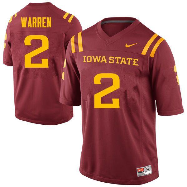 Men 2 Mike Warren Iowa State Cyclones College Football Jerseys