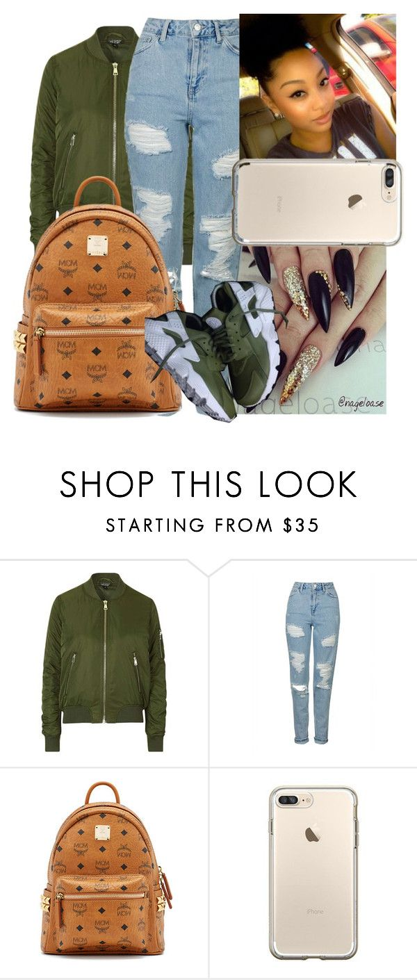 """11-10-16"" by ashantisowell on Polyvore featuring Topshop and MCM"