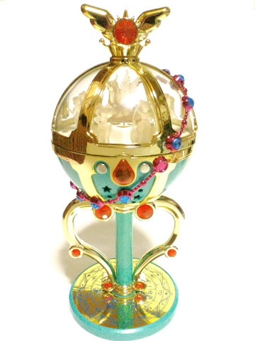 This is one of the most sought after among Sailormoon Collectors. Last time I looked the Gauntlet was going for 1k. It opens up and it has each character from the SuperS arch.