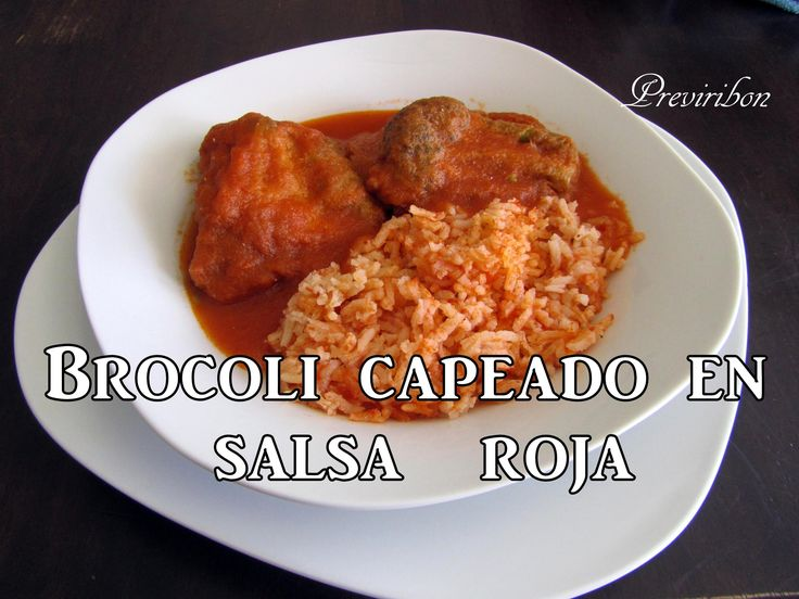 Brocoli Capeado en Salsa Roja