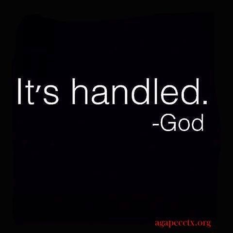 It's handled❤️️ Don't worry he has a plan for you
