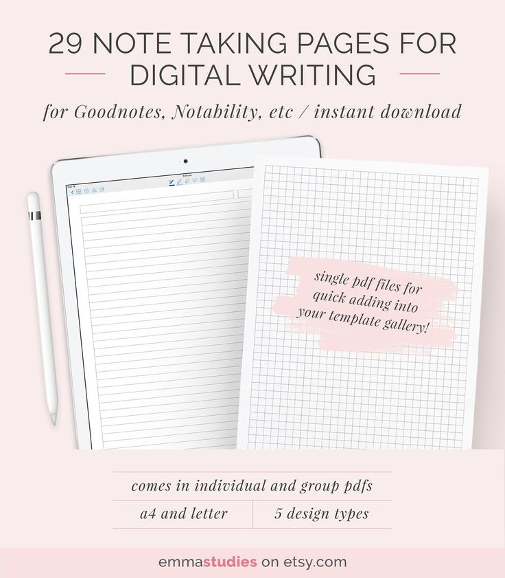 Digital Note Taking Paper Template