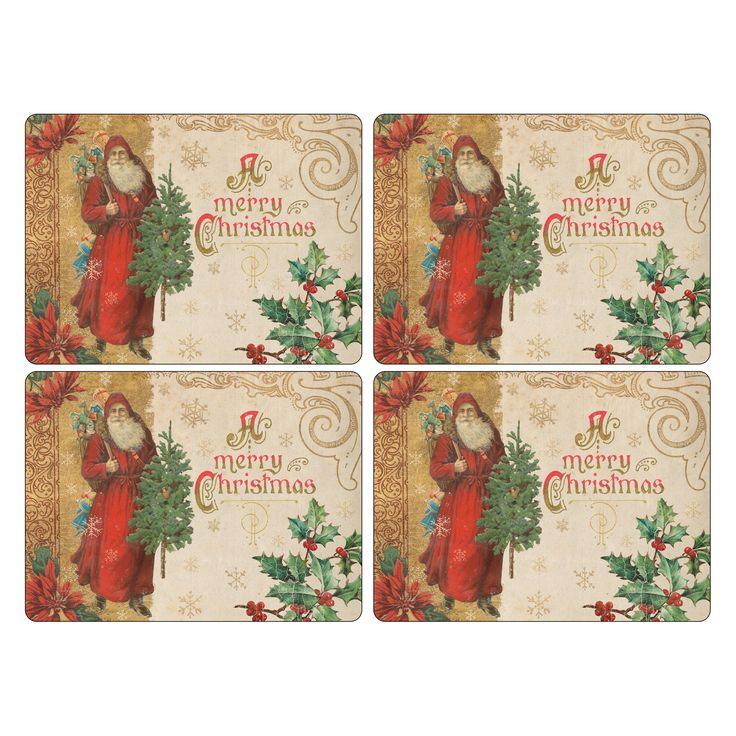 Pimpernel Victorian Christmas Placemats - Set of 4 - 2010648832