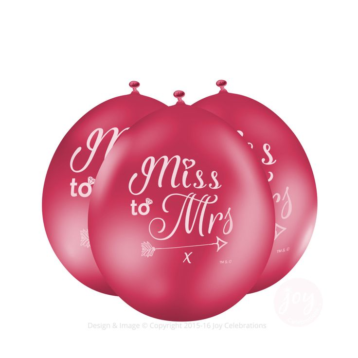 Miss to Mrs Hen Party Balloons - Ideal For a Sophisticated Hen Do or Wedding Day Bride to Be Celebrations (19481070) by JoyCelebrations on Etsy https://www.etsy.com/uk/listing/274385746/miss-to-mrs-hen-party-balloons-ideal-for