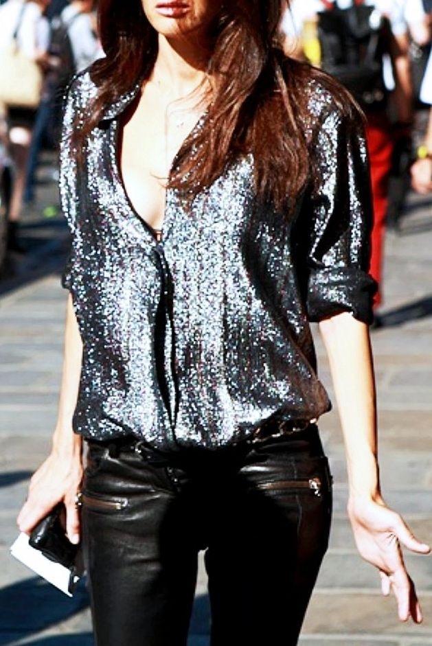 Silver Sparkly Blouse
