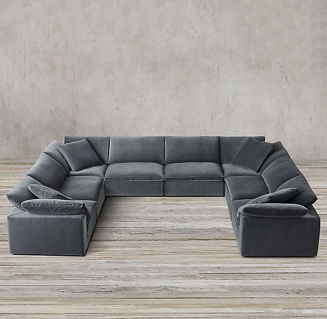 Rh S Cloud Modular Fabric U Sofa Sectional 16 Stocked Fabrics