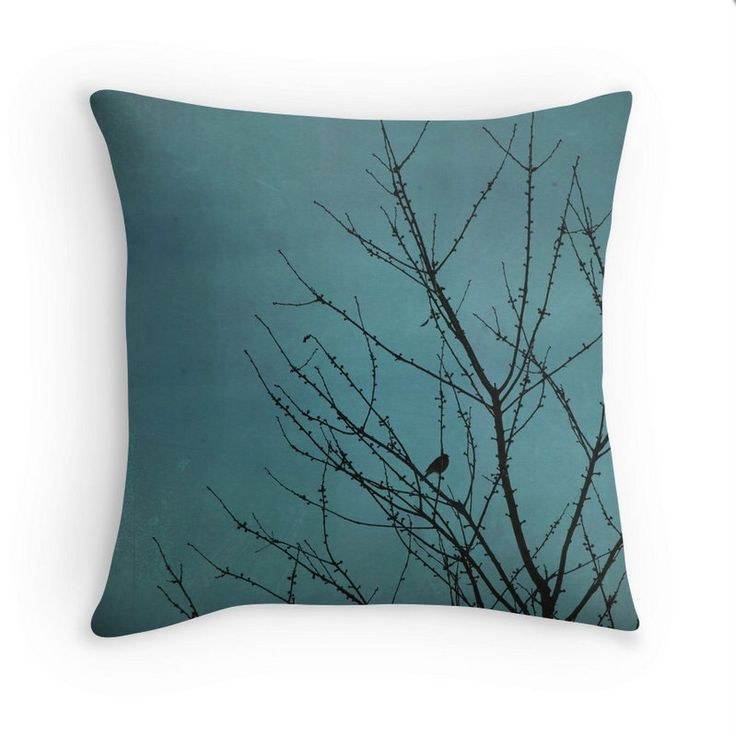 teal pillow cover, turquoise pillow cover, teal cushion cover, teal home decor, shabby decor, natural home decor, tree pillow cover, bird by MitchMcfarlanePhotos on Etsy https://www.etsy.com/listing/487761521/teal-pillow-cover-turquoise-pillow-cover