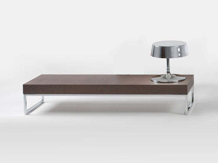 Elegant Low Rectangular Oak Coffee Table EGO By Giulio Marelli Italia | Design  Studio CrGM