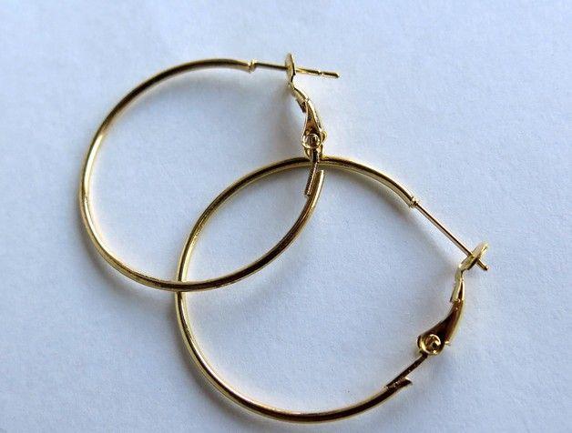 Coppia Cerchi per orecchini dorato