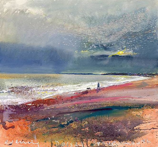 Kurt Jackson - Evening, Dorset. Stour mouth