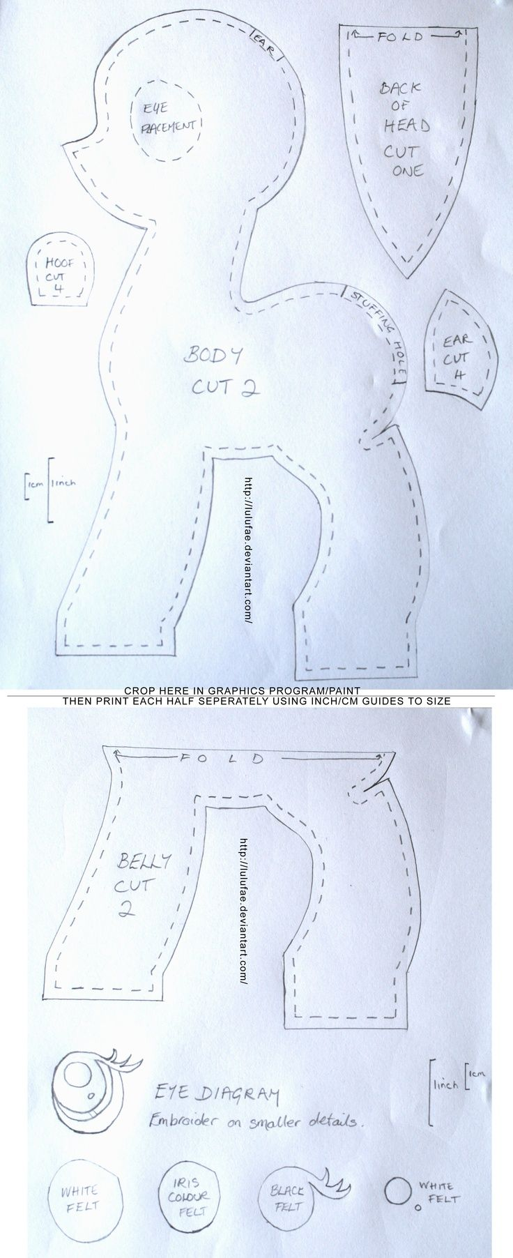 pony plush pattern