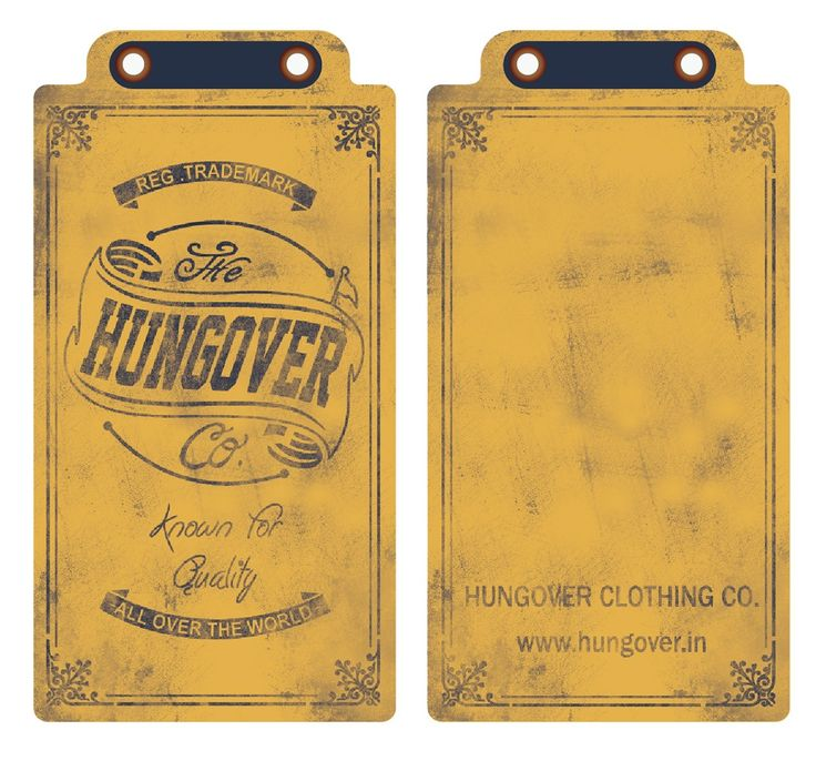 Hangtag for Hungover and Truuth Brand on Behance