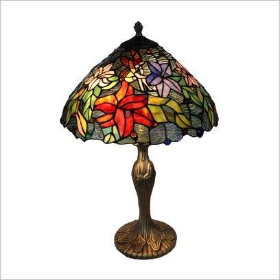 Leadlight Table Lamp Bingli International