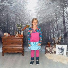Ninie wintercollectie 2016-2017 set bloem petrol t-shirt stip roze legging sterrenrokje lichtblauw