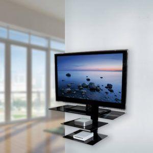Glass Wall Mount Tv Shelf
