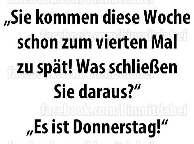 #donnerstag