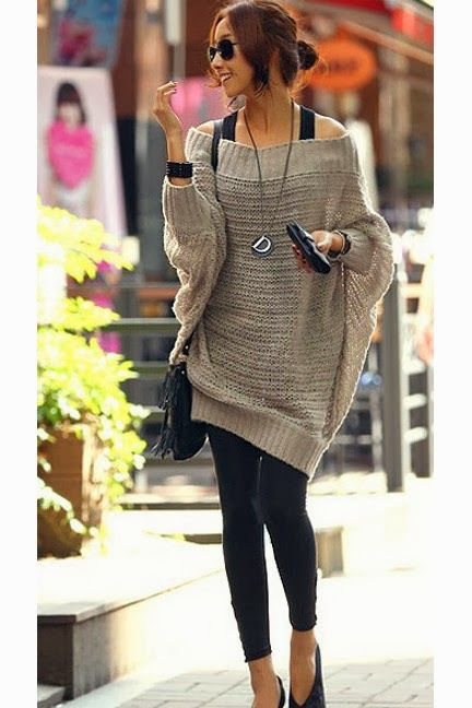 Oversized Sweaters With Leggings And Shade | FASHION | Pinterest | Flats Runway and Love this