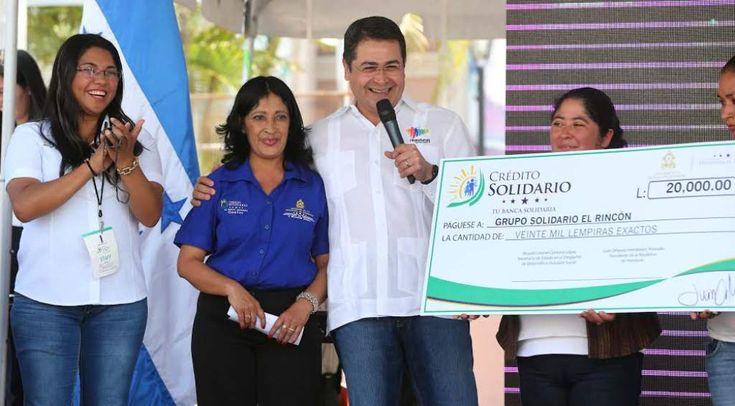 Honduras: Banca Solidaria tiene disponible 200 millones de lempiras  El objetivo del presidente Hernández es brindar 75,000 créditos a microempresarios en 2016.