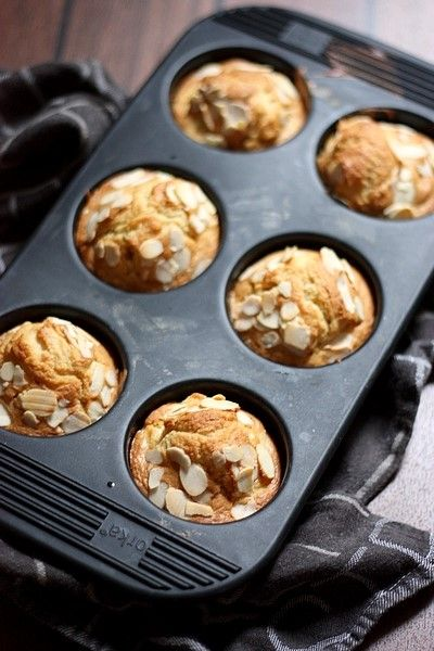 Muffins pommes-gingembre-amandes au micro-ondes