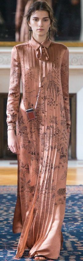 нарядное длинное платье 2017 для полных и пожилых женщин - с длинным рукавом, фасон рубашка