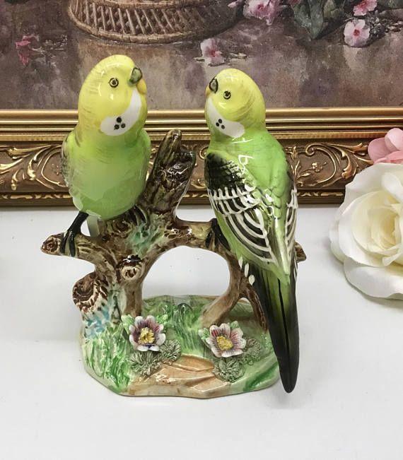 Japanese parakeet figurine.
