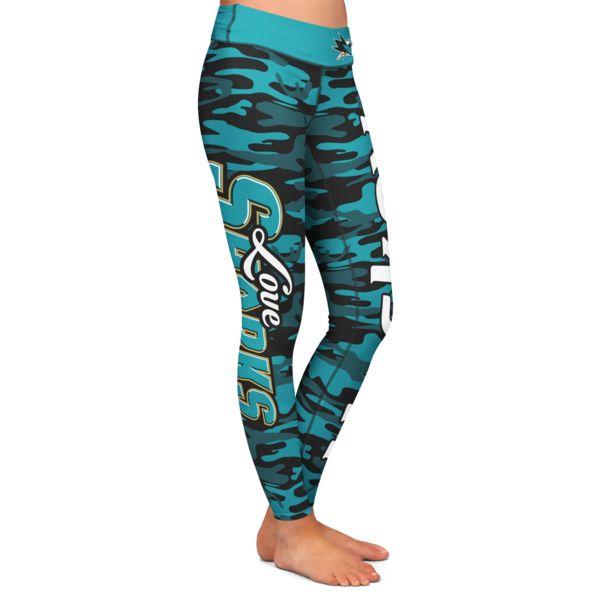 I really need these!! San Jose Sharks Camo Print Leggings