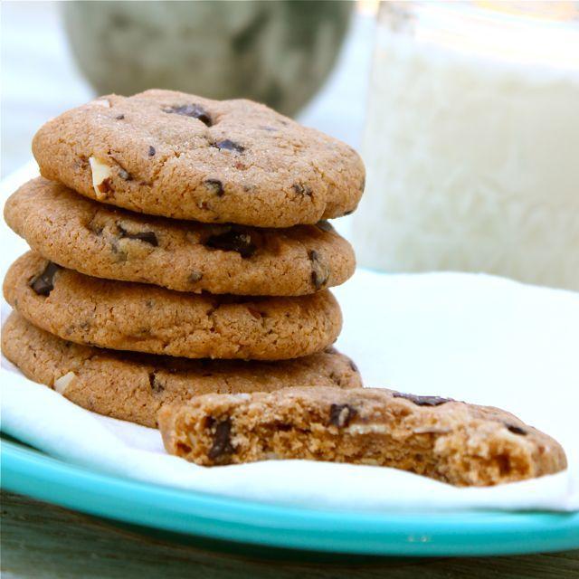 Almond Butter Chocolate Chunk Cookies | ASpicyPerspective.com #cookies ...