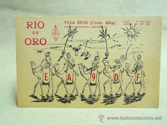 POSTAL DE RADIOAFICIONADOS, QSL, 1955, VILLA BENS, AFRICA OCCIDENTAL ESPAÑOLA (Postales - Especiales)