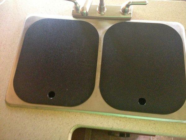 rv sink covers Sink Covers in Black Rv Pinterest Plastic ...