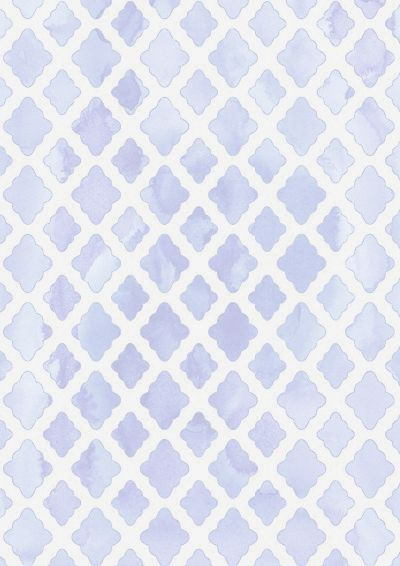 Watercolors Blue White Pattern Antique Wallpaper