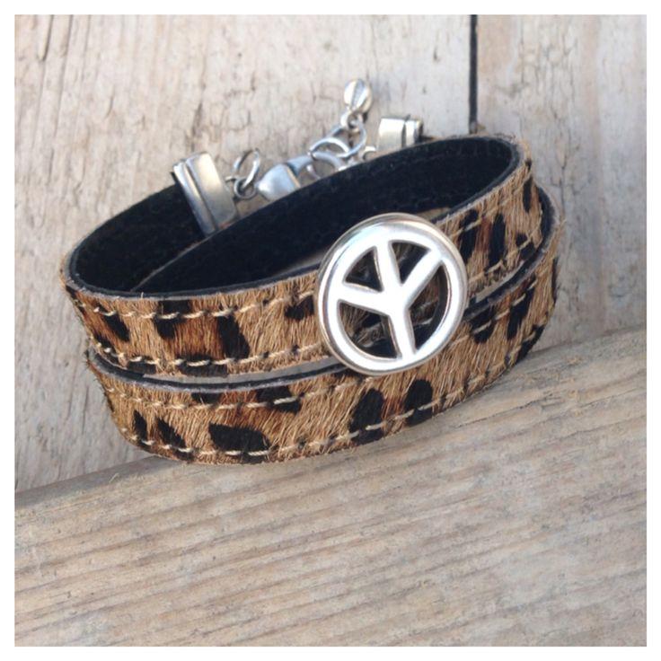 Wikkelarmband van vacht met luipaardprint! #label160 #leer #bracelet #armband #armbanden #handmade #sieraden