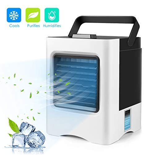 Personal Space Air Conditioner 4 In 1 Mini Usb Personal Space Air Cooler Humidifier Purifier Desktop Cool Air Cooler Air Cooler Fan Air Purifier Humidifier