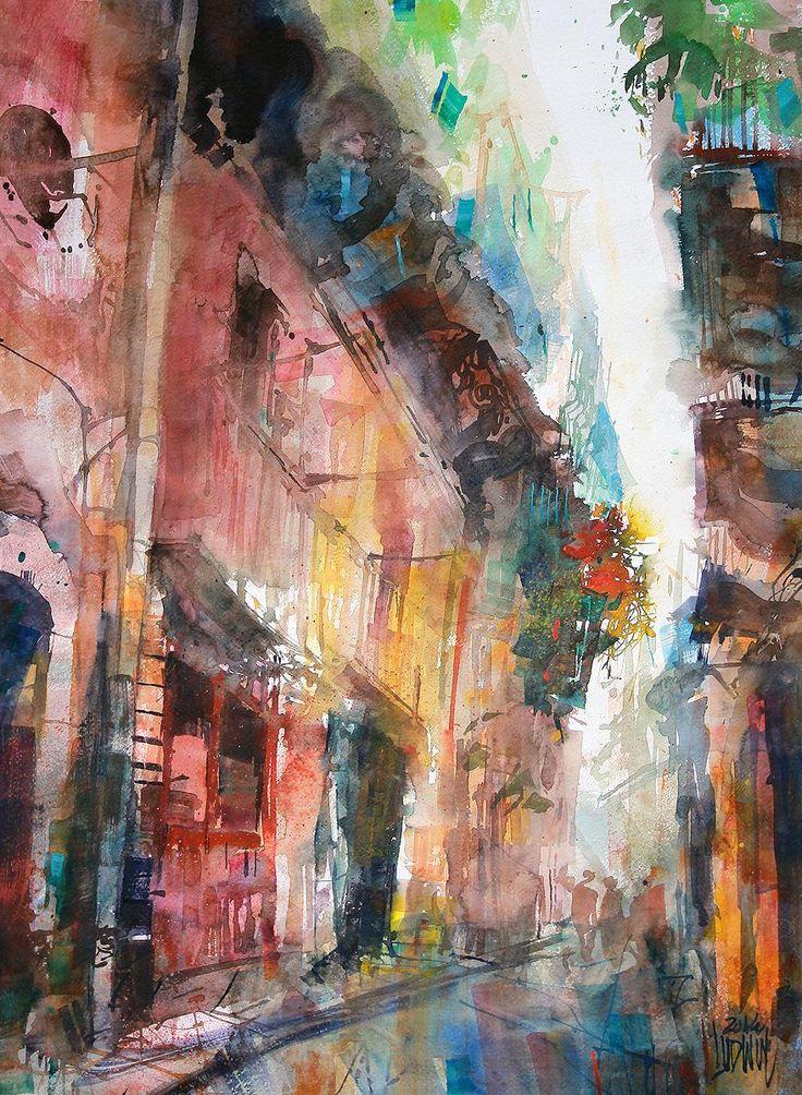 Krzysztof Ludwin - Siracusa, Sicilia #watercolor jd